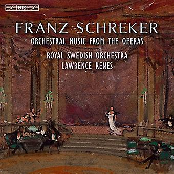 Schreker / Królewska Orkiestra szwedzki / Renes - Schreker: import USA orkiestrowa muzyka z opery [SACD]
