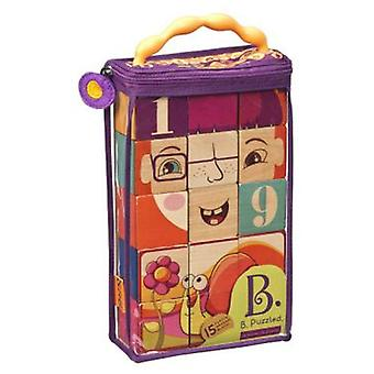 B. Oques Wood (15) Puzzled (Toys , Preschool , Constructions)