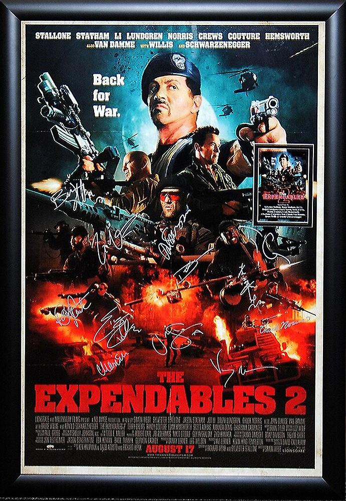 expendables 2 signed movie poster fruugo