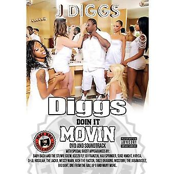 J-Diggs - Diggs Doin det Movin [DVD] USA import