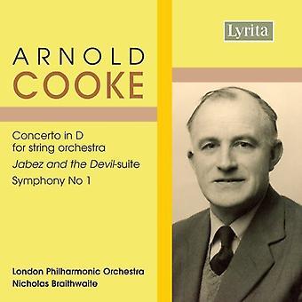 A. Cooke - Arnold Cooke: Conceto i D for strygeorkester; Jeppesen og Djævelen-Suite; Symfoni No. 1 [CD] USA importerer