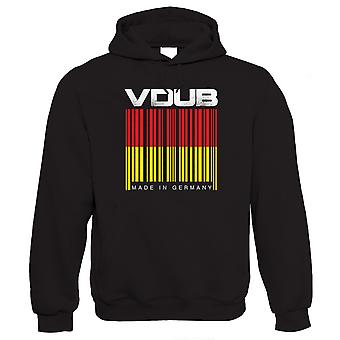 Vectorbomb, VDub Barcode, Mens Made In Germany Hoodie