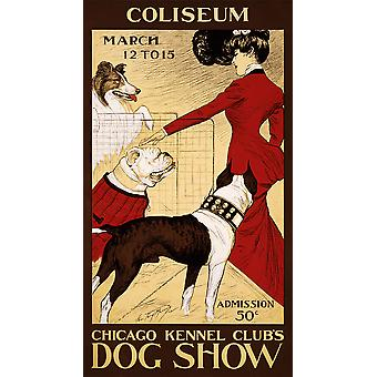 Chicago Kennel Club's Dog Show Poster Print Giclee