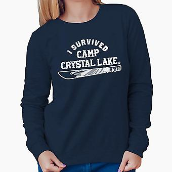 I Survived Camp Crystal Lake Friday the 13th Women's Sweatshirt