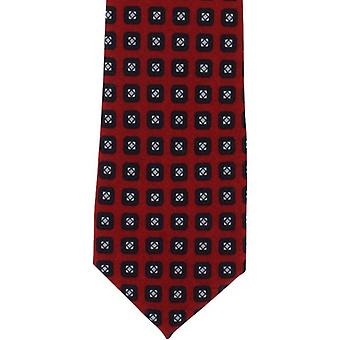 Michelsons of London Neat Wool Tie - Red