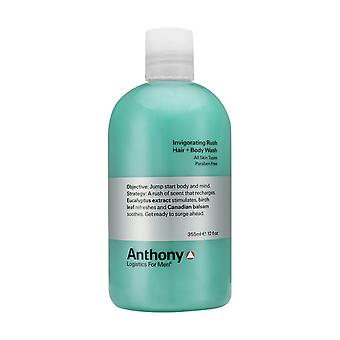 Anthony Logistics styrkende Rush hår + Body Wash 355ml