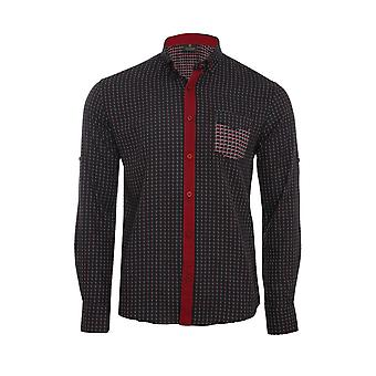 Tazzio fashion shirt men's long sleeve-shirt black G-704