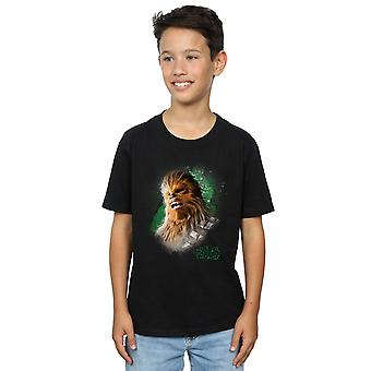 Star Wars Boys The Last Jedi Chewbacca Brushed T-Shirt