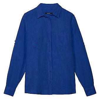 GANT Womens Linen Shirt - Blue