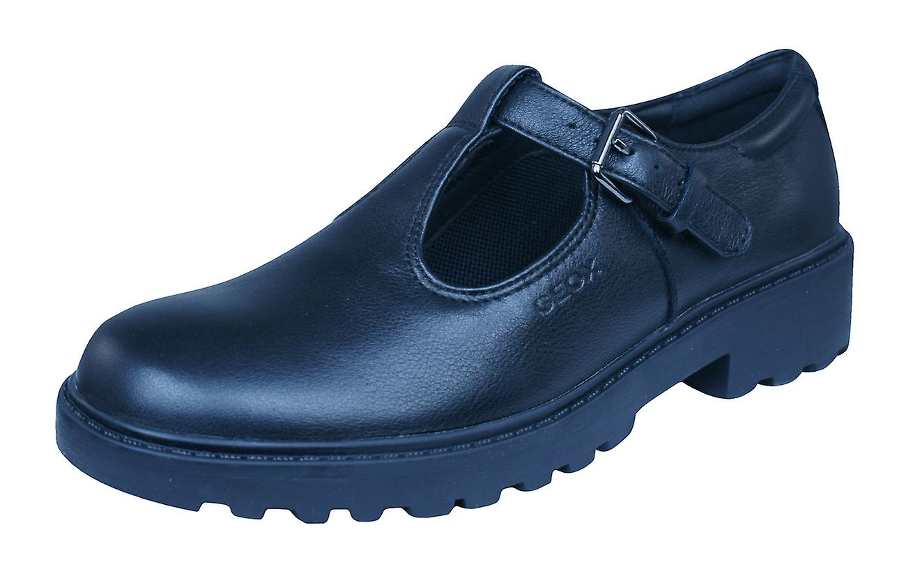 Geox J / Casey G.O Girls Nappa Leather Shoes / J Brogues - Black f0086f