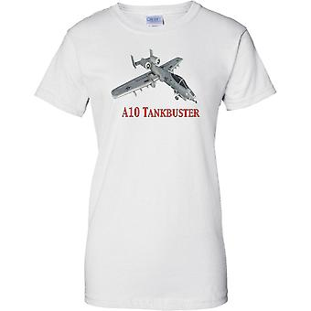 A-10 Thunderbolt USAF Tankbuster Warthog - aeroplano del combattente - Ladies T Shirt