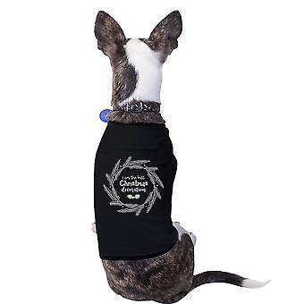 Ich bin der beste Weihnachten Dekoration netten grafischen Haustier T-Shirt kleine Hunde