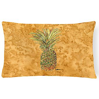 Carolines skatter 8654PW1216 ananas Canvas tyg dekorationskudde