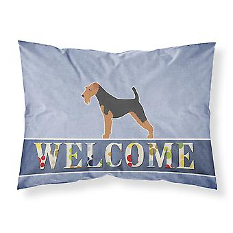 Airedale Terrier Welcome Fabric Standard Pillowcase