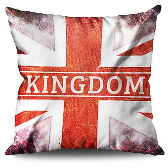 Flag Patch Country UK Linen Cushion Flag Patch Country UK | Wellcoda