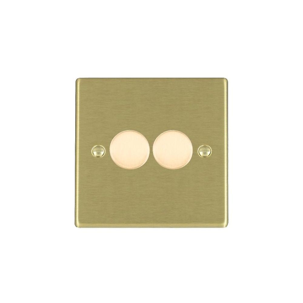 Hamilton Litestat Hartland Satin Brass 2g 100W LED Dimmer SB