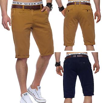 Men's Chino shorts Bermuda denim SlimFit 100% cotton shorts of jeans belt