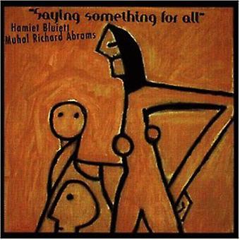 Bluiett/Abrams - at sige noget til alle [CD] USA import