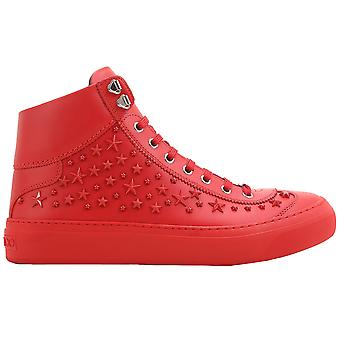 Jimmy Choo men ARGYLEOMXRED red leather Hi Top sneakers