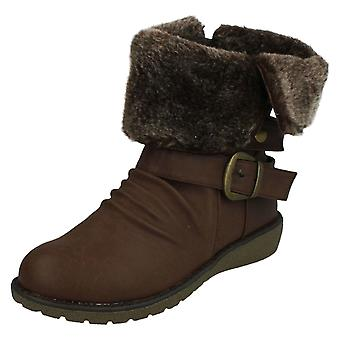 Ladies Down To Earth Fleece Lined Ankle Boots
