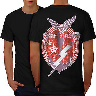 Mare marina militare nave uomini Vintage BlackT-camicia indietro | Wellcoda