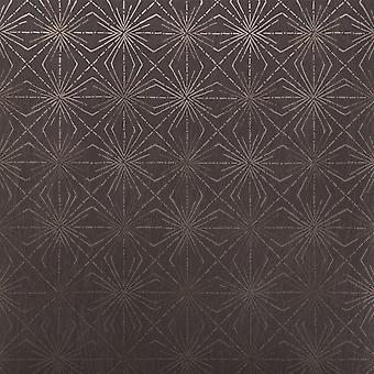 Blendworth Brown&Bronze Wallpaper Roll - Paper Trail Starburst Design - BL-0905