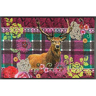wash + dry mat Knitty wild washable dirt mat country house