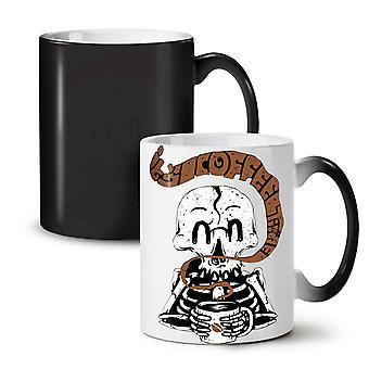 Skeleton Coffee NEW Black Colour Changing Tea Coffee Ceramic Mug 11 oz   Wellcoda