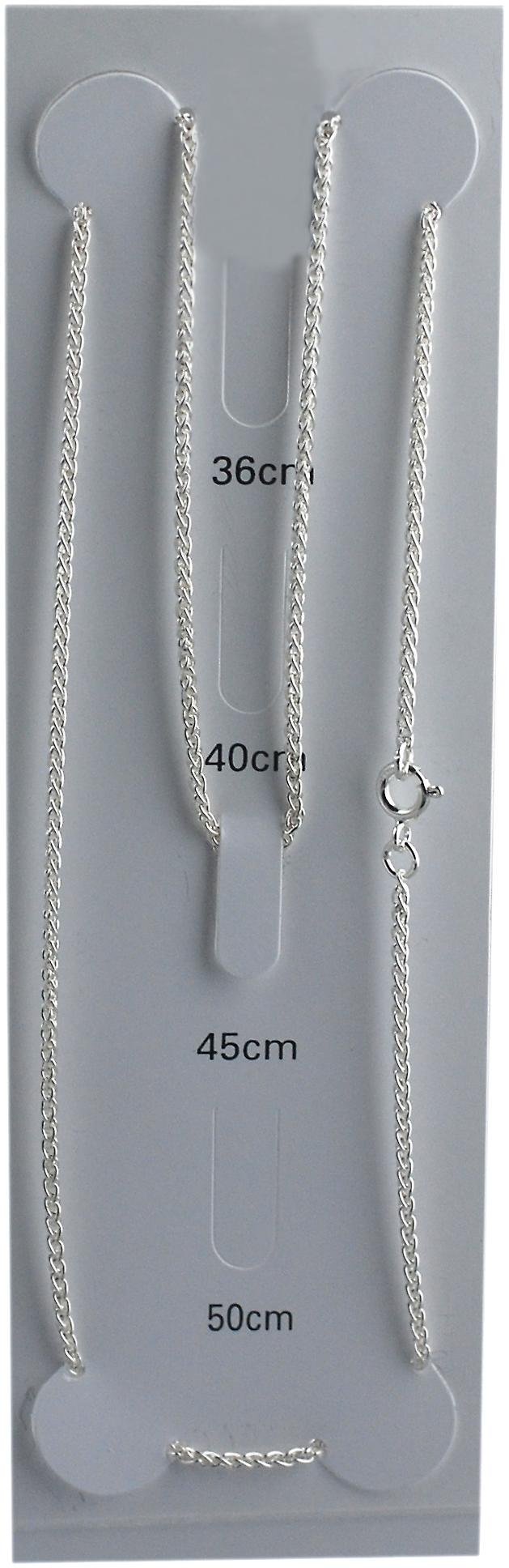 Silver 1.6mm wide Spiga Pendant Chain 18 inches