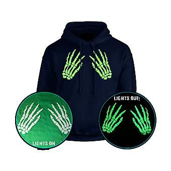 Skeleton Hands Front Rude Halloween GLOW IN THE DARK Unisex Hoodie 10 Colours (S-5XL) by swagwear