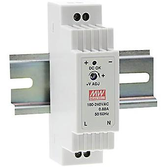Carril montado PSU (DIN) significa pozo DR-15-12 12 Vdc 1.25 A 15 W 1 x