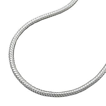 Round snake chain 1.3mm silver 925 necklace 36cm