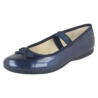 女の子クラークス機会摩耗靴ダンス輝き