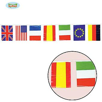 Guirca Bag 50 M. International Flag 20 X 30 Cm (Babies and Children , Costumes)