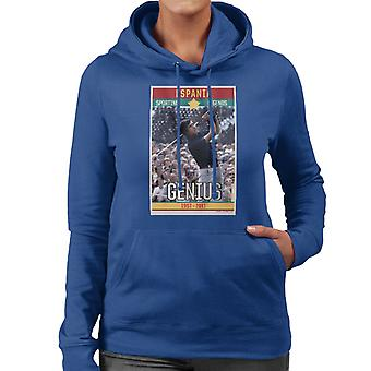 Sporting Legends Poster Espania Seve Ballesteros Genius British Open Golf 1972 Women's Hooded Sweatshirt