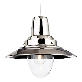 Firstlight Fisherman Pendant Finished In Chrome With A Clear Glass Lamp Enclosure