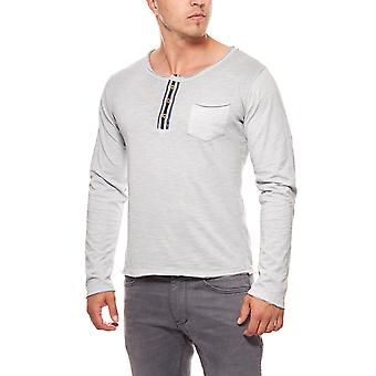 CARISMA buttons men's sweater grey slim fit sweater