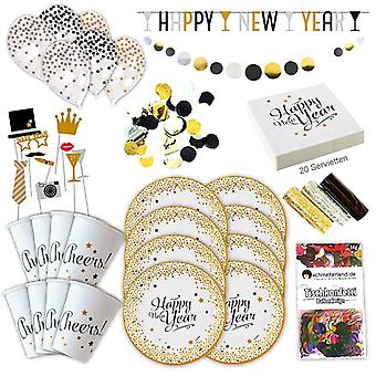 Happy new year new year's Eve party set XL 59 8 guests new year decoration party package