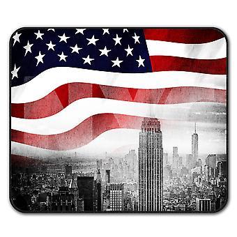 New York City Flagge Anti-Rutsch-Mauspad Pad 24 x 20 cm | Wellcoda