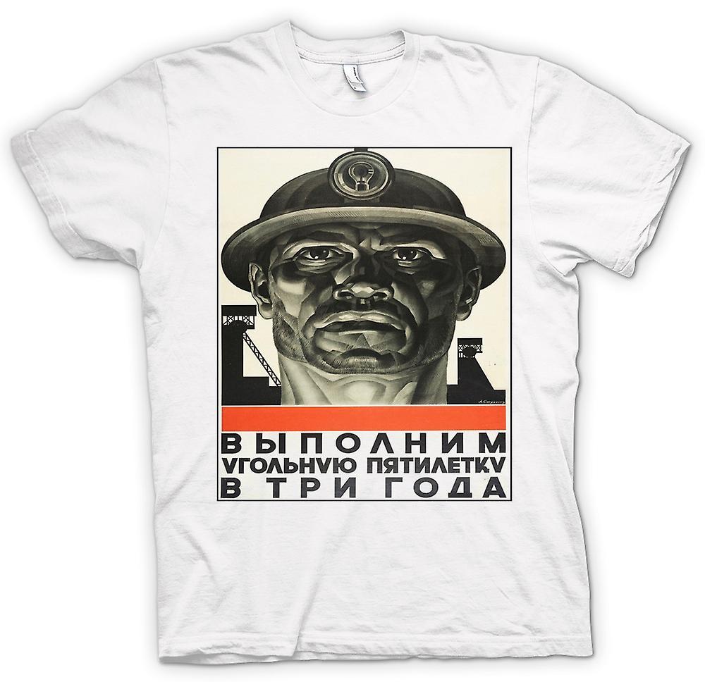 Femmes T-shirt - Miner russe Propaganda - Affiche