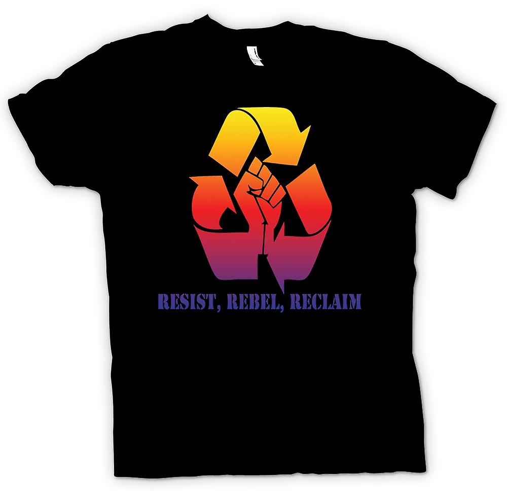 Kids T-shirt-Resist Rebel Reclaim