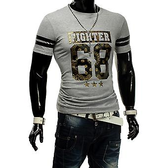 Men's T-Shirt Unisex Polo clubwear fighter 68 contrast