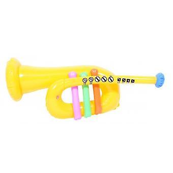 Party aufblasbare Trompete gelb