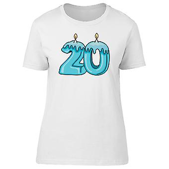 20Th Birthday Candles Doodle Tee Women's -Image by Shutterstock