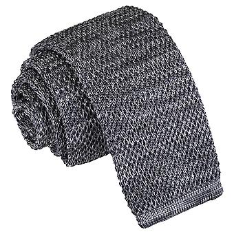 Cravatta in maglia Grigio Melange chiaro puntinato