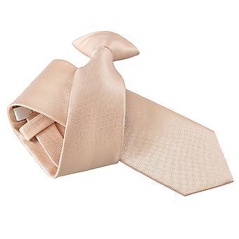 Champagner solide Check Clip auf schmale Krawatte