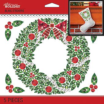 Jolee's Boutique Dimensional Stickers-Bling Christmas Wreath