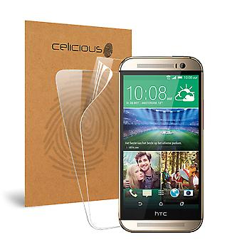 Celicious Vivid Invisible Glossy HD Screen Protector Film Compatible with HTC One (M8) [Pack of 2]
