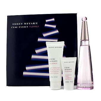 Issey Miyake L'Eau D'issey Florale 3Pc Gift Set (A 94$ Value)