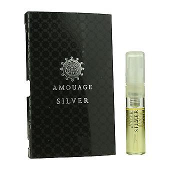 Amouage 'Plata' Eau De Parfum Spray para hombre .05oz cardado Vial (OriginalFormula)